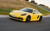 Porsche 718 Cayman GTS cornering
