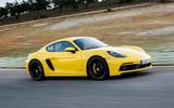 Porsche 718 Cayman GTS on the track
