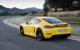 Porsche 718 Cayman GTS rear cornering