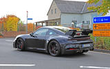 2020 Porsche 911 GT3 spies production body spoiler