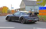 2020 Porsche 911 GT3 spies prolongation physique spoiler