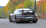 2020 Porsche 911 GT3 spies production body rear