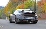 2020 Porsche 911 GT3 spies production body rear
