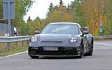 2020 Porsche 911 GT3 spies production body air intake