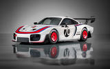 Porsche 935 race car 2018 reveal hero front