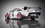 Porsche 935 race car 2018 reveal hero rear