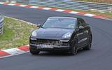 Porsche Cayenne Coupe 2019 spies Nurburgring active rear spoiler 7