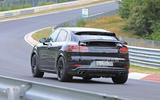 Porsche Cayenne Coupe 2019 spies Nurburgring active rear spoiler 5