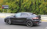 Porsche Cayenne Coupe 2019 spies Nurburgring active rear spoiler 4