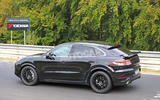Porsche Cayenne Coupe 2019 spies Nurburgring active rear spoiler 4