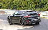 Porsche Cayenne Coupe 2019 spies Nurburgring active rear spoiler 3