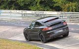 Porsche Cayenne Coupe 2019 spies Nurburgring active rear spoiler 2
