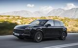 Porsche Cayenne S on the road