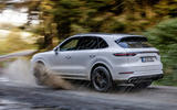 Porsche Cayenne Turbo off-road rear cornering