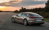 2017 Porsche Panamera Turbo S E-Hybrid side and back