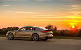 2017 Porsche Panamera Turbo S E-Hybrid side and sunset