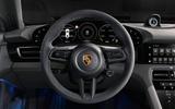 2020 Porsche Taycan reveal images - steering wheel