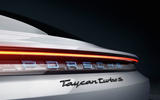 2020 Porsche Taycan reveal images - static rear detail