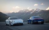 2020 Porsche Taycan reveal images - pair