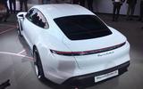 Porsche Taycan 2020 official reveal - rear end