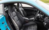 Porsche 718 Cayman S front seats