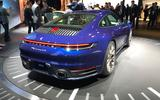 Porsche 911 992 at the LA motor show - rear