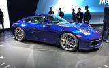 Porsche 911 992 at the LA motor show - front