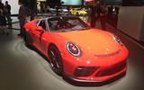 Porsche 911 Speedster 2019 - New York motor show - front