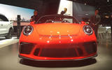 Porsche 911 Speedster 2019 - New York motor show - nose