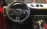Porsche Cayenne Coupe 2019 reveal event - steering wheel