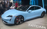 Porsche Taycan 4S at LA motor show 2019 - side