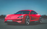 Porsche Taycan as imagined by Autocar