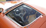 Stylish interior of the Lamborghini Miura