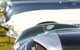 The nose of a classic Bentley Continental