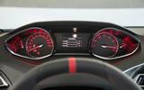 Peugeot 308 GTi instrument cluster