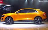 Audi Q8 showroom side
