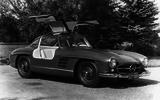 1955 Mercedes-Benz 300 SL gullwing doors open