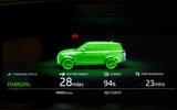 Range Rover P400e PHEV charging update screen