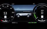 Range Rover P400e PHEV instrument cluster