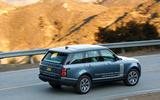 Range Rover P400e PHEV rear cornering