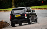Range Rover rear cornering