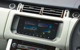 Range Rover infotainment system