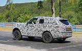 Range Rover prototype Nurburgring side rear