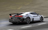 Italdesign V10 supercar from back