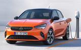 Vauxhall eCorsa front three quarter leaked photo