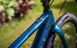 Top tube mounted button discharges the Ribble Hybrid AL e's electric assistance