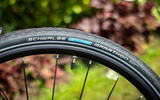 Schwalbe hybrid tyres provide a comfortable ride on the Ribble Hybrid AL e