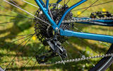 The Ribble Hybrid AL e has an 11-speed SRAM NX groupset and a wide range of gears on the cassette