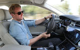 Ricky Lane driving the Audi A8