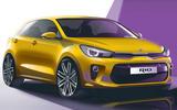 New Kia Rio revealed in rendering